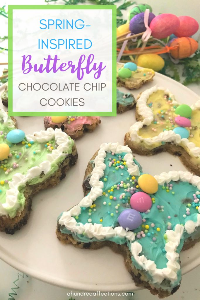 Spring-Inspired Butterfly Chocolate Chip Cookies - A Hundred Affections