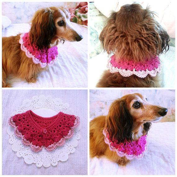 Dog Scarf Dog Collar Dog Bandana Dog Cowl Crocheted
