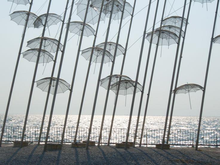 Umbrellas sculpture Thessaloniki