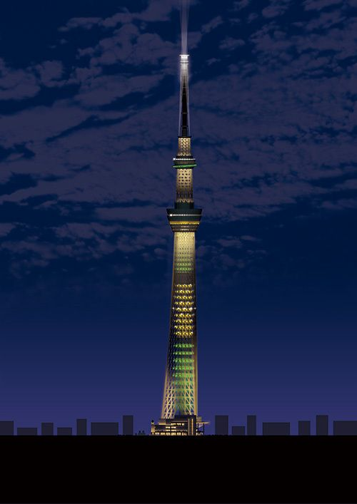 東京スカイツリーがリオ オリンピック特別ライティングに - 金メダルや日本・ブラジルの国旗をイメージ - 写真2