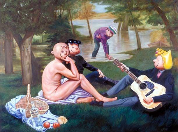 Ron English- Shultz Picknick