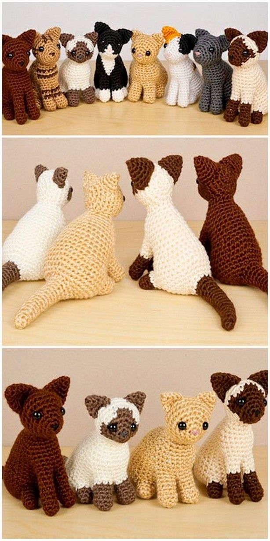 Siamese Cat - Amigurumi Crochet Pattern in 2020   Stuffed animal ...   1228x614
