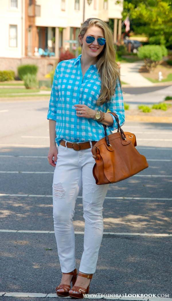 Casual style from TeodorasLookbook.com - Michael Kors shirt, Dittos jeans from Nordstrom, Ray-ban sunglasses
