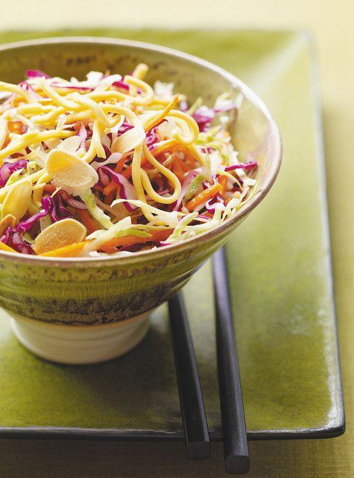 Salade de chou croustillante à l'asiatique Recettes   Ricardo
