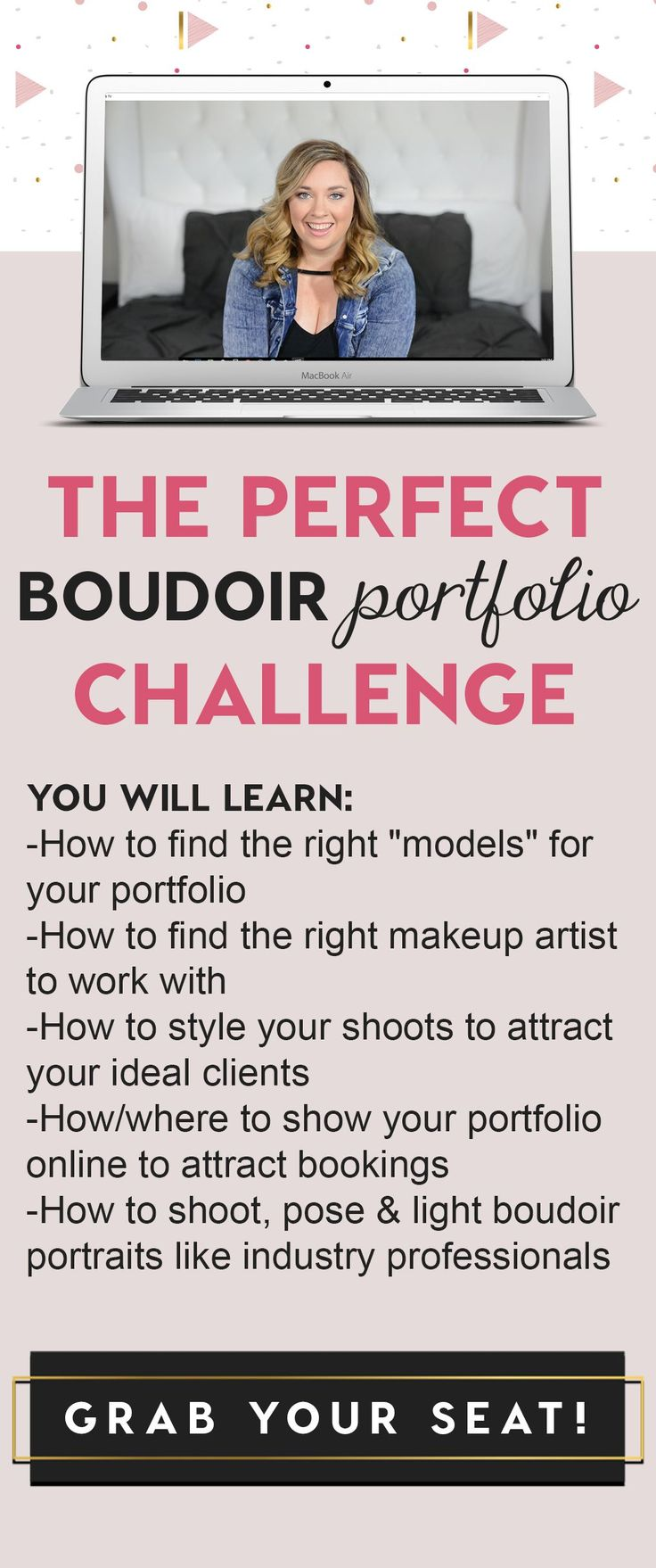 Join the FREE Boudoir Portfolio Challenge to learn how to grow your boudoir portfolio! http://portfoliochallenge.pages.ontraport.net/