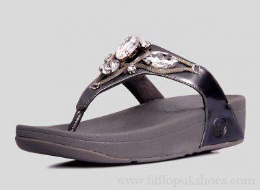 Womens Fitflop Eight Diamonds Grey Sandals