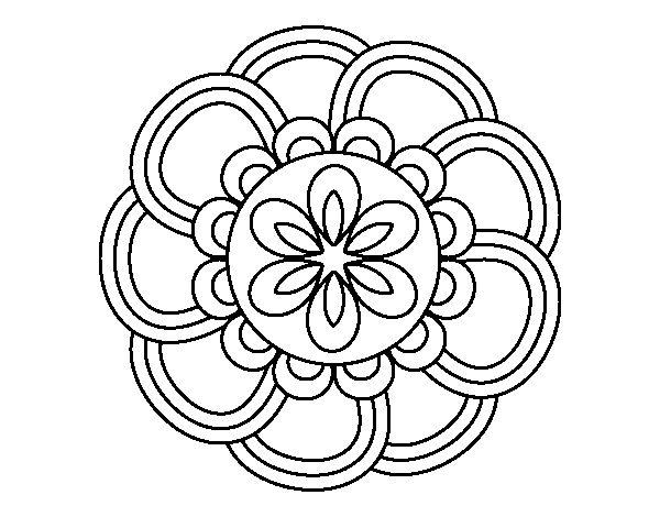 Mandala de pétalos
