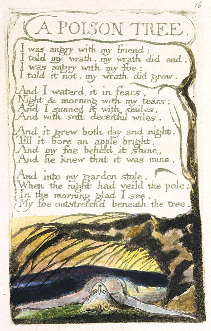 a poison tree romanticism Download presentation powerpoint slideshow about 'poem example a poison tree by william blake' - cruz an image/link below is provided (as is) to download presentation.
