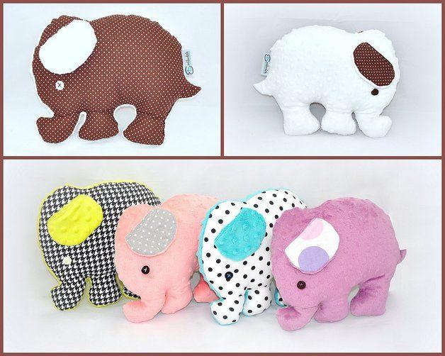 Słonik maskotka poduszka słoń wybór minky bawełna - Emiludek - Zabawki dla dzieci