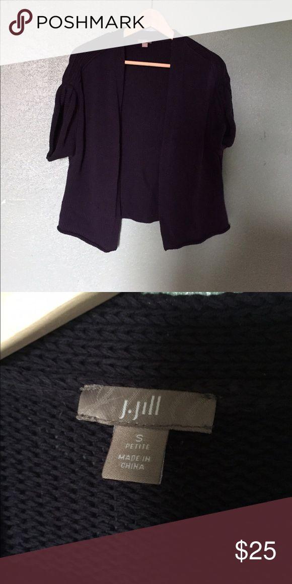 J.jill small petite cardigan Good shape. Short sleeve navy cardigan petite small J. Jill Sweaters Cardigans