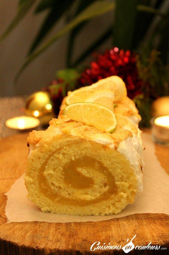Bûche au lemon curd (Recette pas à pas) - Cuisinons En Couleurs