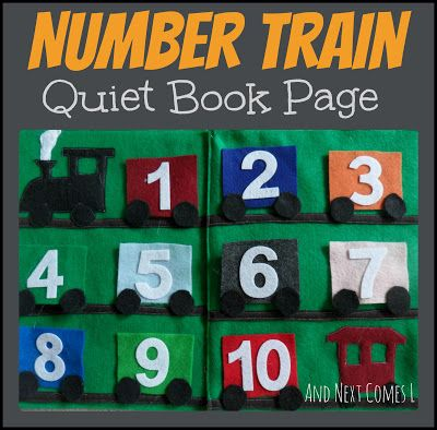 And Next Comes L: Number Train Quiet Book Page