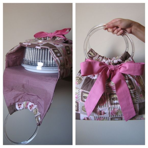 Stylish and cute cake tote