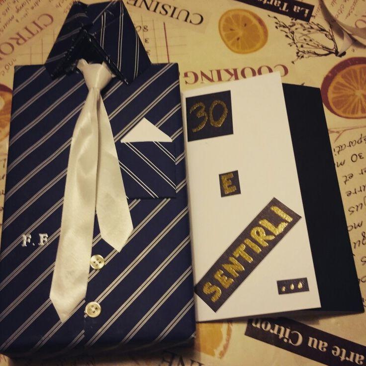 pacchetto regalo gift camicia cravatta compleanno birthday