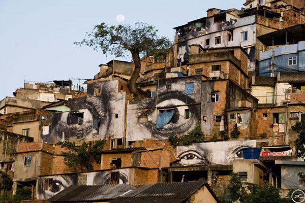 obra de arte en las favelas con los trenes - Buscar con Google