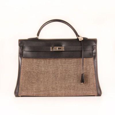 Hermès Kelly 40 Toile H Black | CBL Bags