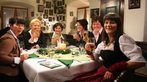 Landfraueküche: weekly program on German television, where the German 'Landfrauen' invite us in their houses and cook their (regional) recipes.