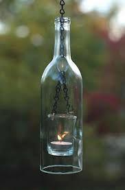Tuinverlichting door hergebruik glas.