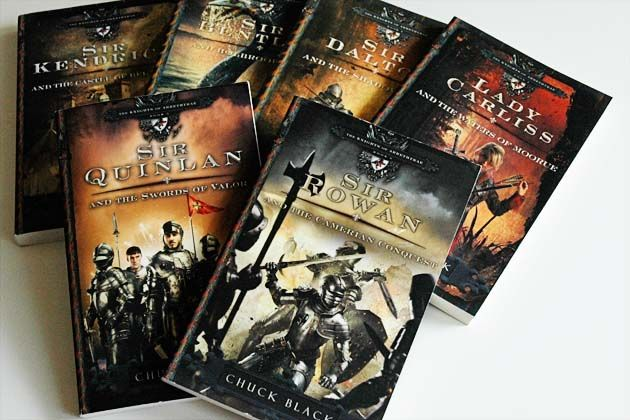 the Knights of Arrethtrae series has adventurous and engaging cover art.