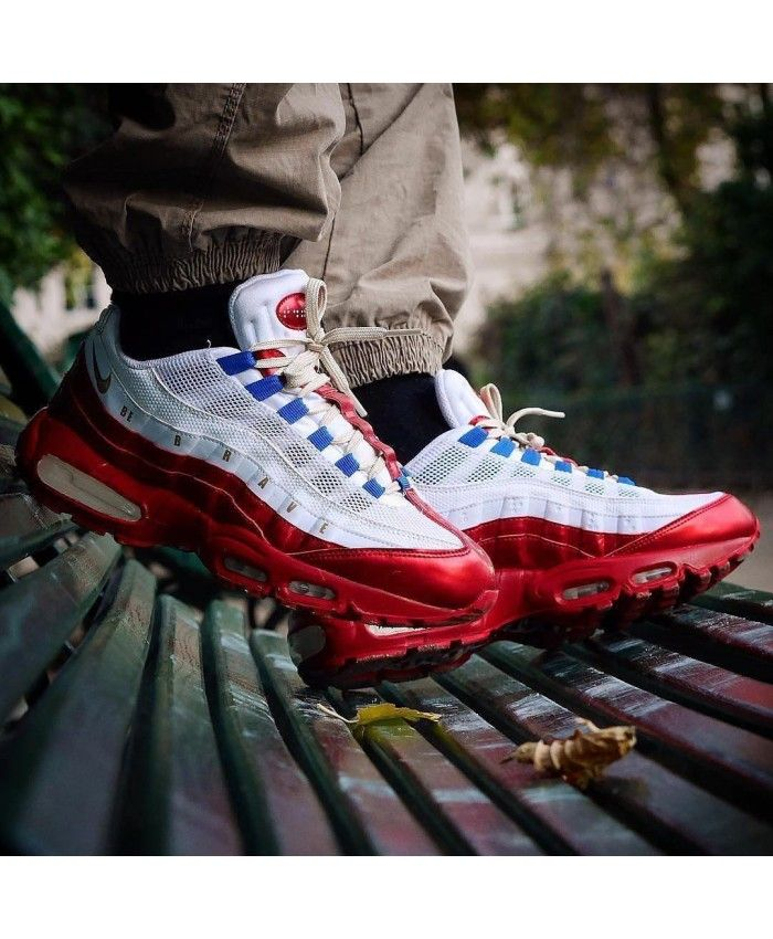 promo code 4cf82 e1ade Nike Air Max 95 Royal Red White Blue Trainers Sale