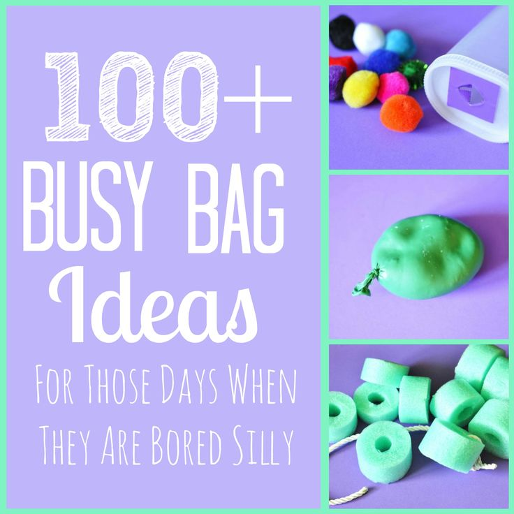 100+ Busy Bag Ideas from Six Sisters' Stuff! For those days when they are bored silly!