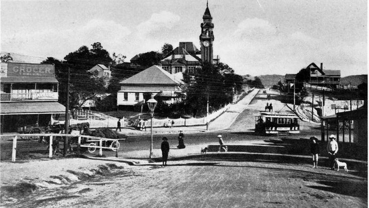 Intersection of Vulture and Stanley Streets, South Brisbane, ca. 1907 - A tram…