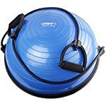 Balance Trainer Half Ball - Includes Bands for Resistance Workouts, Yoga, Gym, Training, Rehab - Bonus Fitness Workout Guide