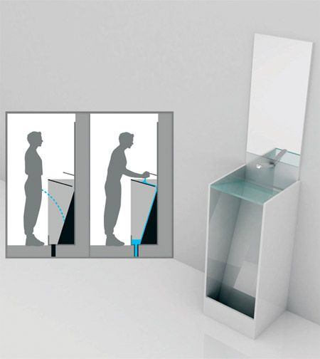 That's awesome. A urinal/sink combo. Save water, and maybe encourage more guys to wash their hands after... *shivers*