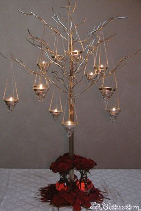 Branches With Tea Lights Brilliant!