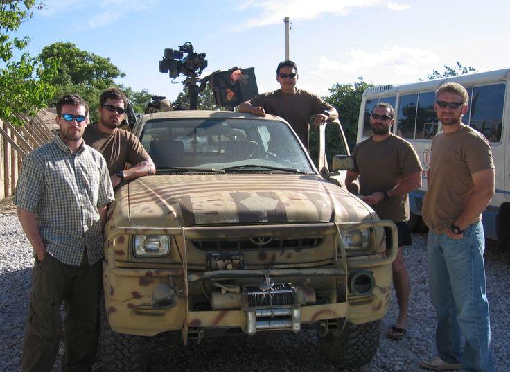 L to R: US Navy SEALs Mike Murphy, Marcus Luttrell, badass truck/technical (aspiring Navy SEAL), James Suh, Dan Healy and Matt Axelson.