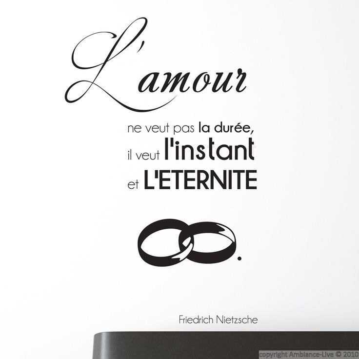 Sticker Lamour Ne Veut Pas F Nietzsche Amour
