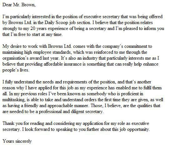 good cover letter example - Good Cover Letter For Job