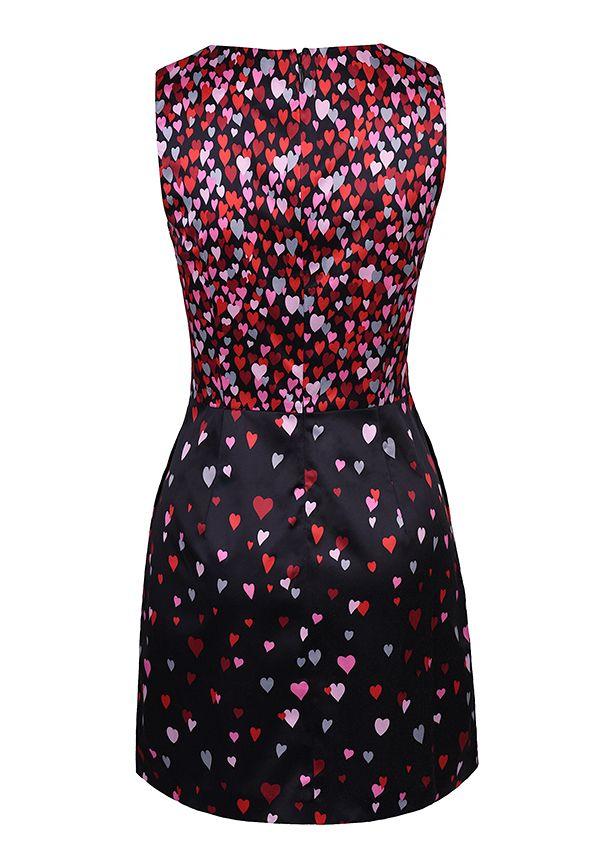 2016 Женские Летние Стиль Красный Любовь-образный Печати Платье Случайно Старинные Элегантный Бальные Платья Свадебные Платья