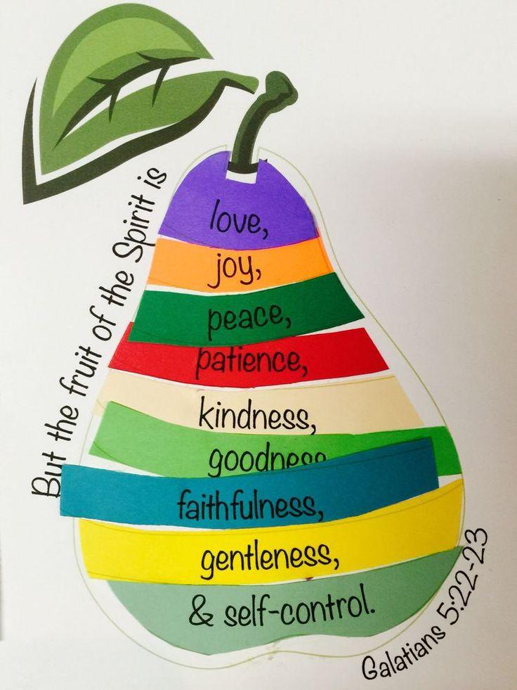 Free Activities Craft For Fruit Of The Spirit Sunday School