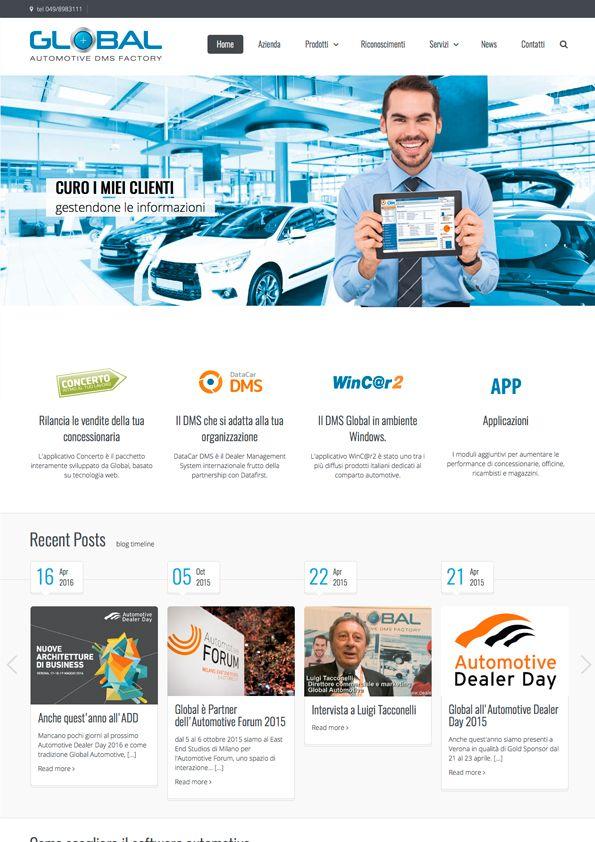 Global Automotive - Web #sito #webdesign #automobile