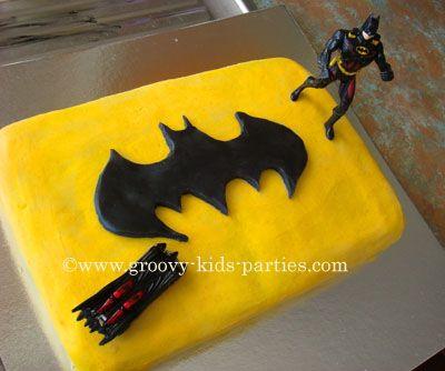 kids cakes | How to Make a Batman Cake