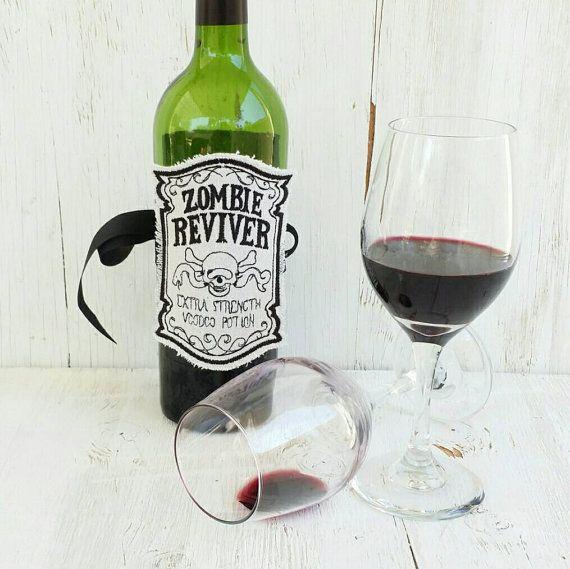 Apothecary Bottle Labels  Zombie Apocolypse  Rockabilly