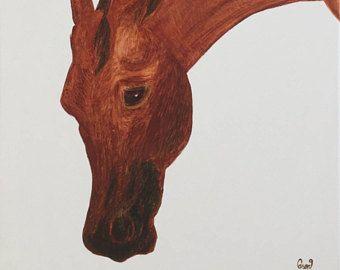 Pferd Pferde Kunst, Schweizer Pferd, Pferd Wandkunst, braunes Pferd, Schweizer Freiberger Pferd, Kunst, Gemälde von Pferd, Pferd-Öl-Gemälde, Kindergarten Kunst