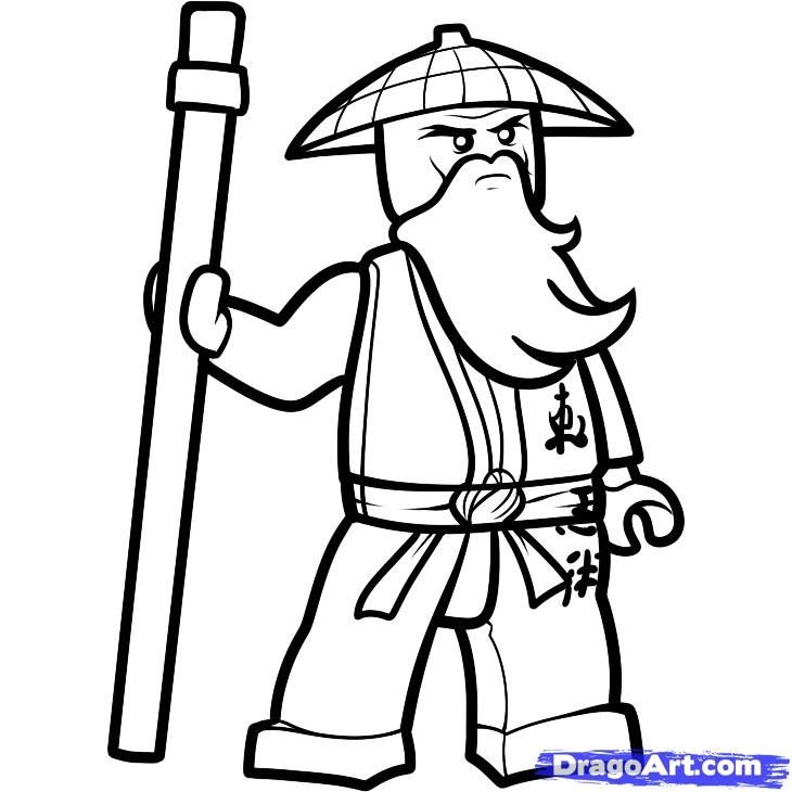 ninjago sensei wu coloring sheet color pages