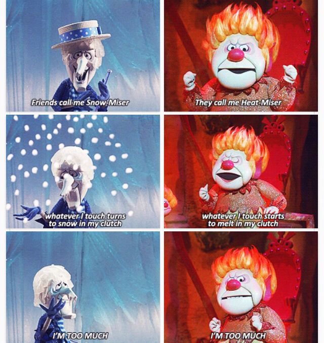The Year Without a Santa Claus! one of my favorite Christmas movies! I especially loved the snow and heat misers haha