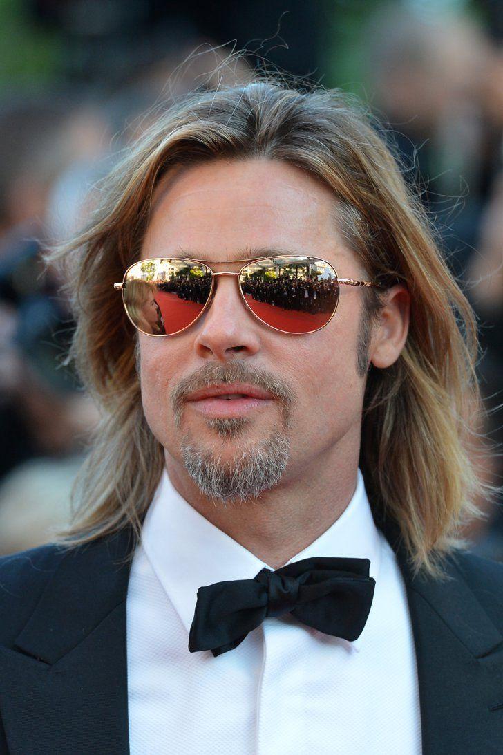 Pin for Later: 15 Hot Celebrity Guys Who Make the Man Bob Cool Brad Pitt