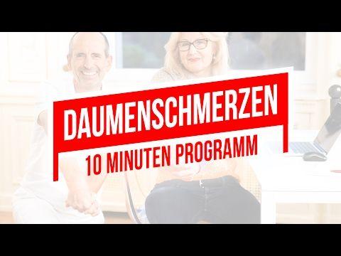 Daumenschmerzen | 10-Minuten-Programm für einen entspannten Daumen  | Übungen & Faszien-Rollmassagen - YouTube