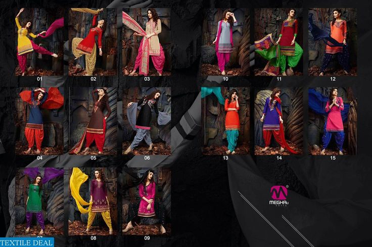 Buy Online Exclusive Megha's Baby Doll Volume -25 Embroidered Ethnic Dress Materials Catalogs at http://goo.gl/vOnz5g Click http://textiledeal.in to Discover Women Fashion gorgeous #EthnicWear collection
