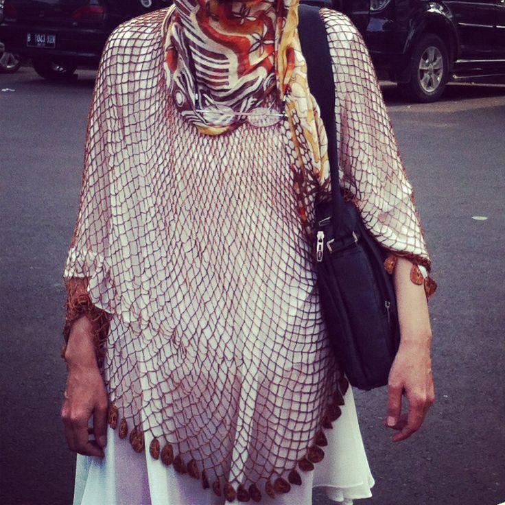 #hijab #syal #haken #rajutan #stitch