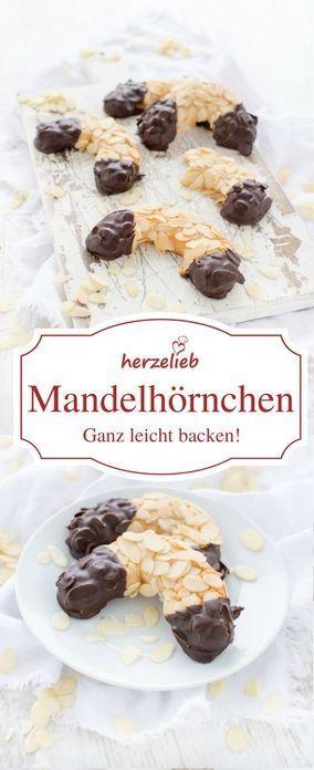 Kuchen Rezepte - Rezept für Mandelhörnchen der Klassiker. Einfach, schnelll, leicht gut #kuchen #foodlbog #rezept #deutsch