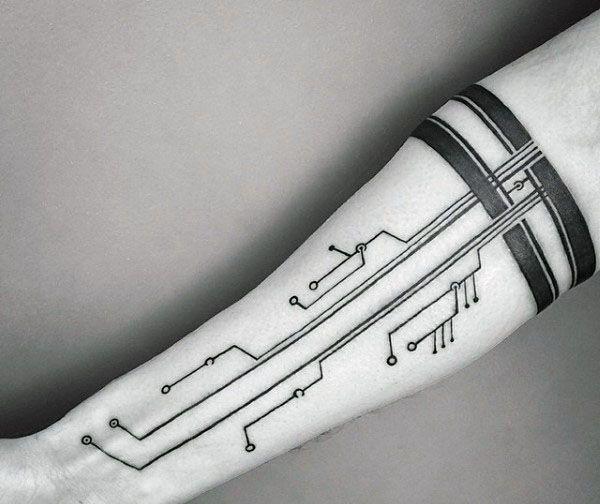 60 Circuit Board Tattoo Designs für Männer – Elektronische Tinte Ideen – ManStil