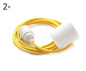 Set de 2 cables One Basic para lámparas de techo – amarillo