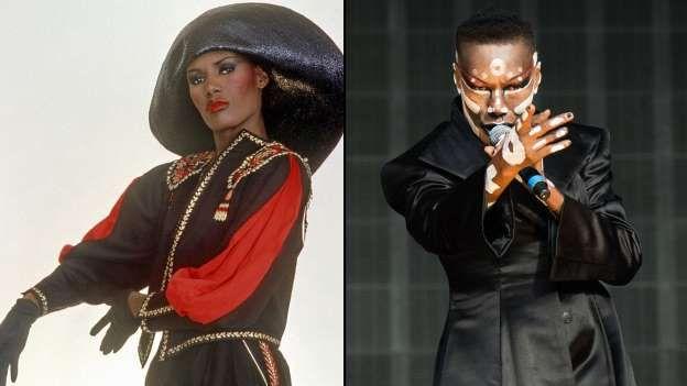 """Grace Jones Größter Hit: """"Slave To The Rhythm"""" (1985) Damals: Grace Jones, das jamaikanische Ex-Model, das in den 70er und 80ern zum Popstar aufstieg, vor allem stach die Sängerin durch ihre extravagante Kleidung und ihren ausgefallenen Auftritte heraus. Ob in Männerkleidung oder im Gorilla-Kostüm, Grace Jones wusste schon immer sich in Szene zu setzen. Mit ihrem gestylten und androgynen Image wurde sie Anfang der 80er Jahre zum Idol der schwulen Gemeinschaft und mit der """"One Man Show"""" zur…"""