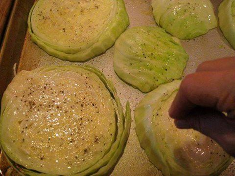 If you love cabbage, you are going to freak out about how good this is. Now, if you are on the fence about cabbage, you need to try this because this might be the recipe that converts you to a cabbage lover. This is a simple side dish worthy of a dinner party and couldn't be easier to make. Four ingredients, a couple of minutes to prepare and toss in the oven for an hour. Ingredients 1 (approx 2lb) head of organic green cabbage, cut into 1″ thick slices 1.5 tablespoons olive oil 2 to ...