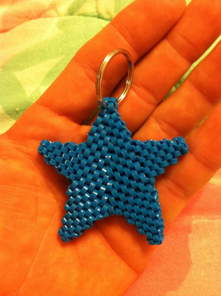 Blue star keychain boondoogle by doggie-dew on deviantart